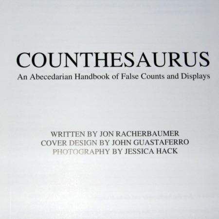 Counthesaurus by Jon Racherbaumer