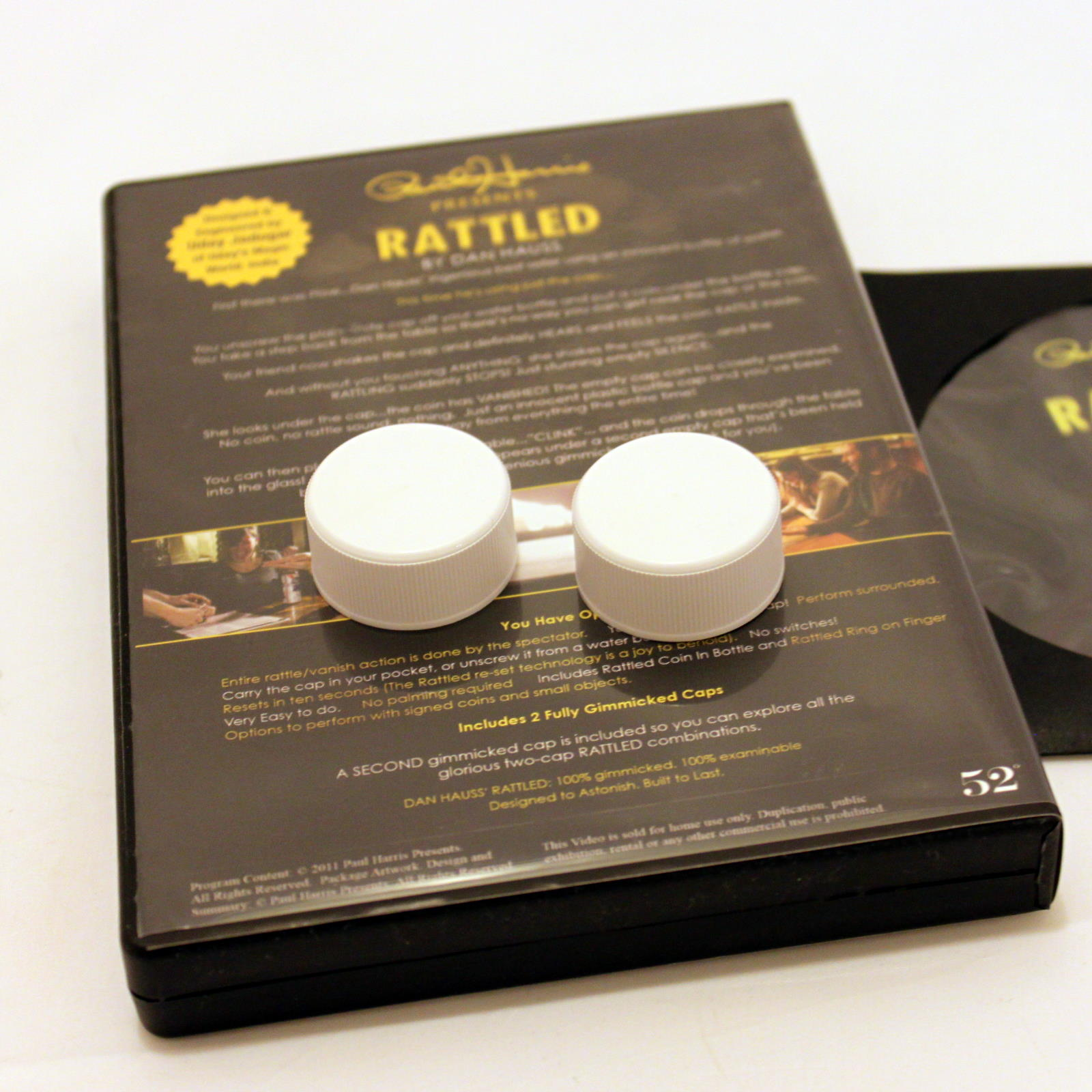 Dan Haus rattled dvd gimmick by dan hauss martin s magic collection