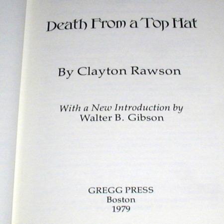 Death From a Top Hat by Clayton Rawson