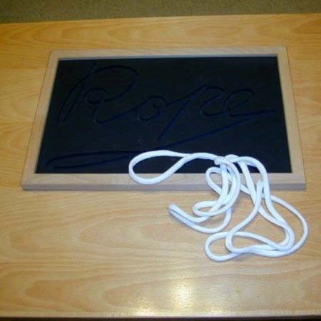 Rope Blackboard by Mikame Craft
