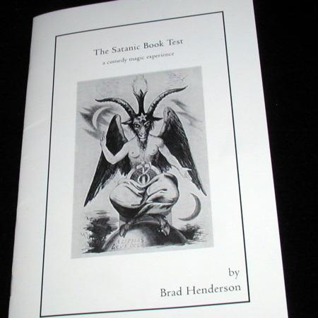 Satanic Book Test, The by Brad Henderson