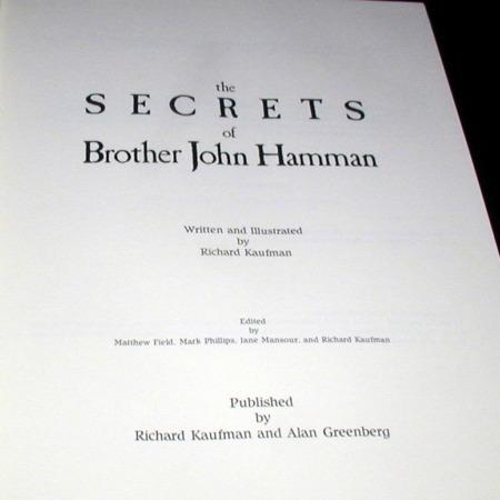 Secrets of Brother John Hamman, The (First Edition) by Richard Kaufman