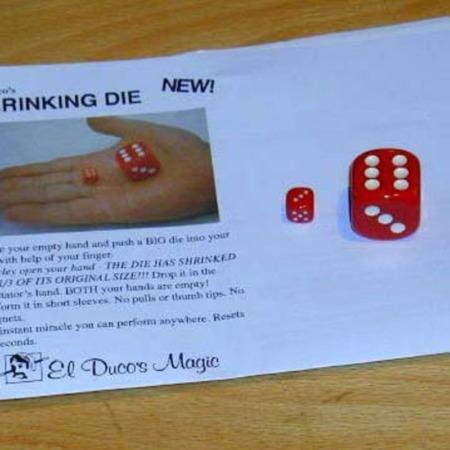Shrinking Die by El Duco's Magic