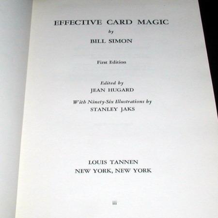Effective Card Magic by Bill Simon