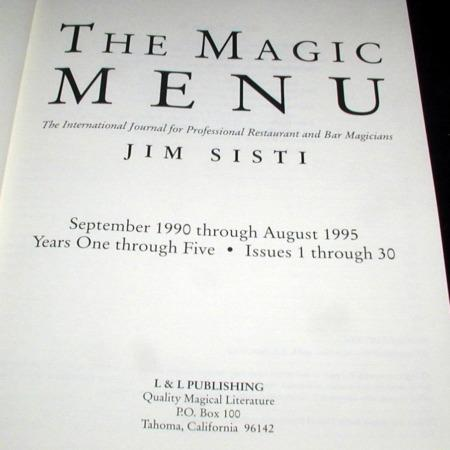 Magic Menu, The: Vols. 1-30 by Jim Sisti