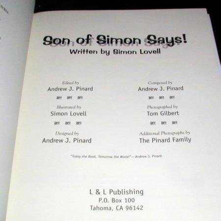 Son of Simon Says by Simon Lovell
