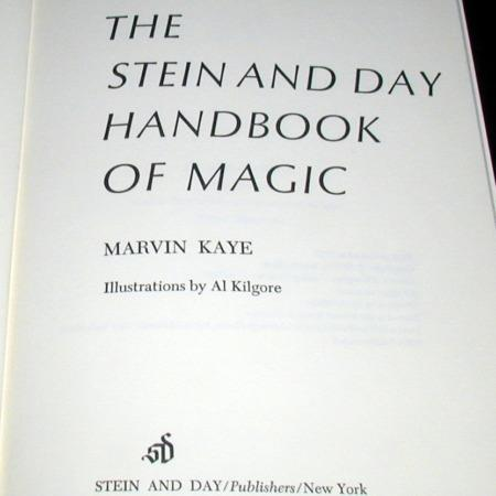 Stein and  Day Handbook of Magic, The by Marvin Kaye