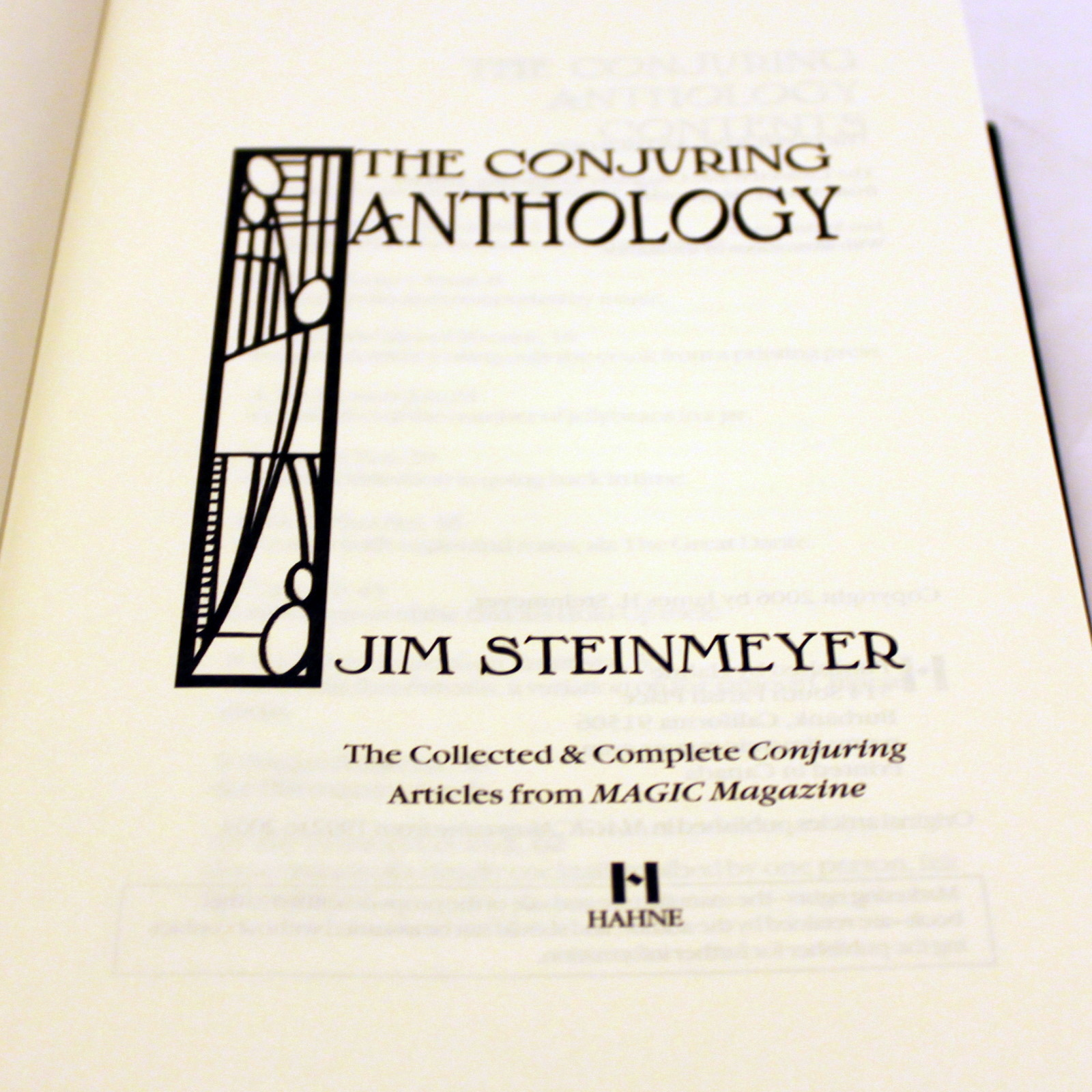 Conjuring Anthology, The by Jim Steinmeyer