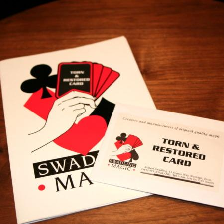 Torn and Restored Card by Bob Swadling