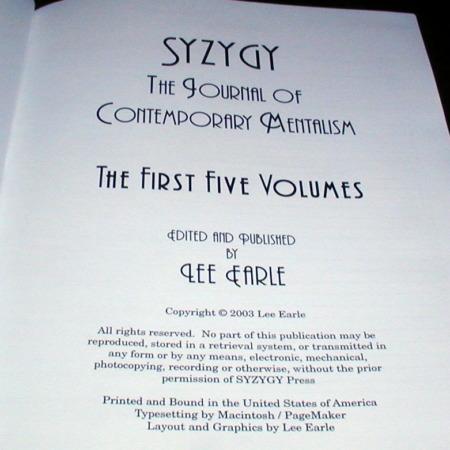 SYZYGY - Vols. 1-5 by Lee Earle, et al.