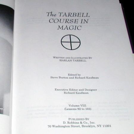 Tarbell Course In Magic Vol. 8 by Harlan Tarbell