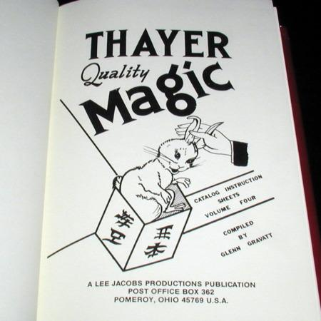 Thayer Quality Magic Vol. 4 by Glenn Gravatt