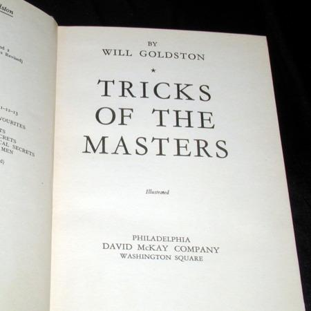 Tricks of the Masters by Will Goldston