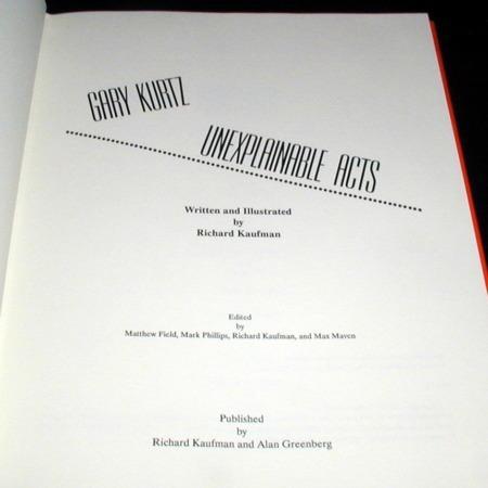 Gary Kurtz - Unexplainable Acts by Richard Kaufman