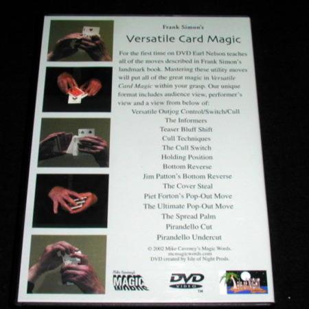 Versatile Card Magic - DVD by Frank Simon/Earl Nelson