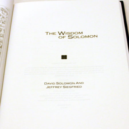 Wisdom of Solomon, The by David Solomon, Jeff Siegfried