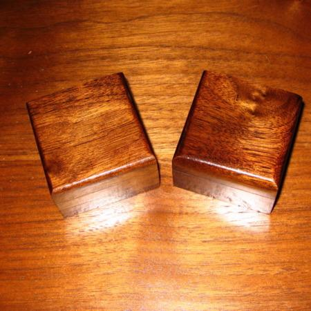 Wooden Coin Boxes by Trickery