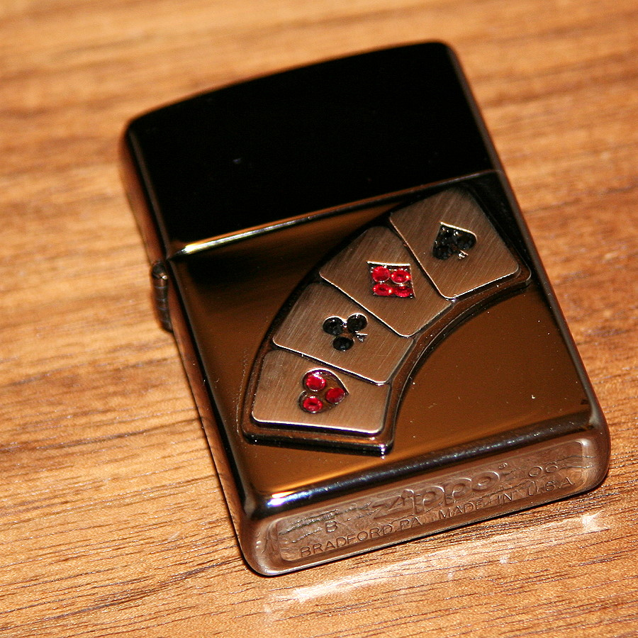 zippo 4 aces lighter by zippo martin s magic collection