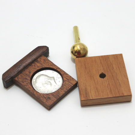 Brass Peg Thru Coin by Limited Edition Magic