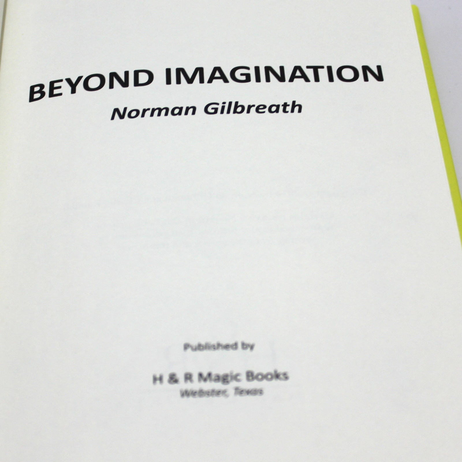 Beyond Imagination by Norman Gilbreath