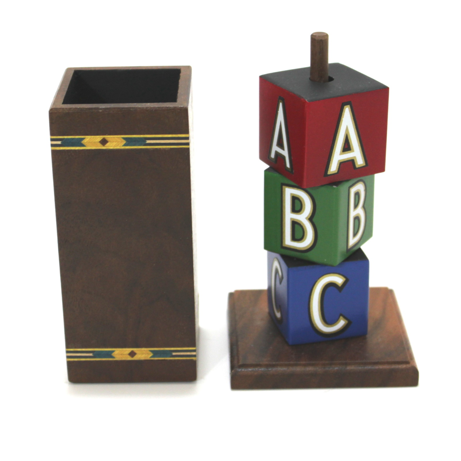 ABC Blocks – Mini (Inlaid) by Mel Babcock
