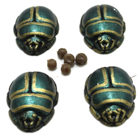Scarab Beetles (Metallic Green) by Black Fox Magic