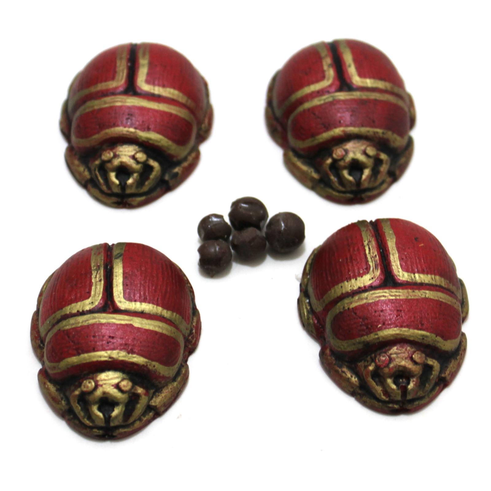 Scarab Beetles (Metallic Red) by Black Fox Magic