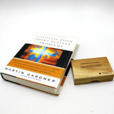 Consecutive Conundrum + Colossal Book by Martin Gardner