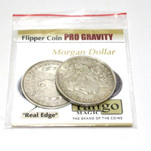 Flipper Coin Pro Gravity (Silver Morgans) by Tango Magic