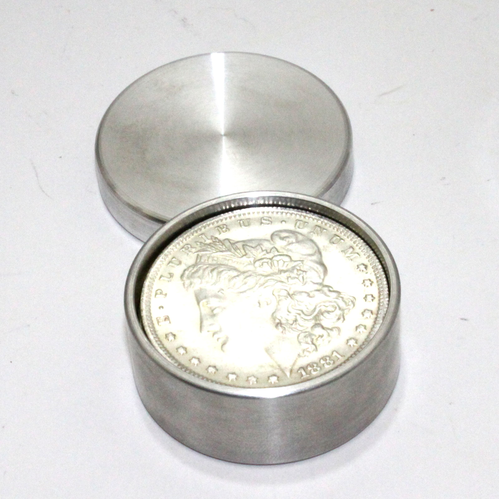 Aluminum Combination Coin Box Set (Morgan/Eisenhower) by Roy Kueppers