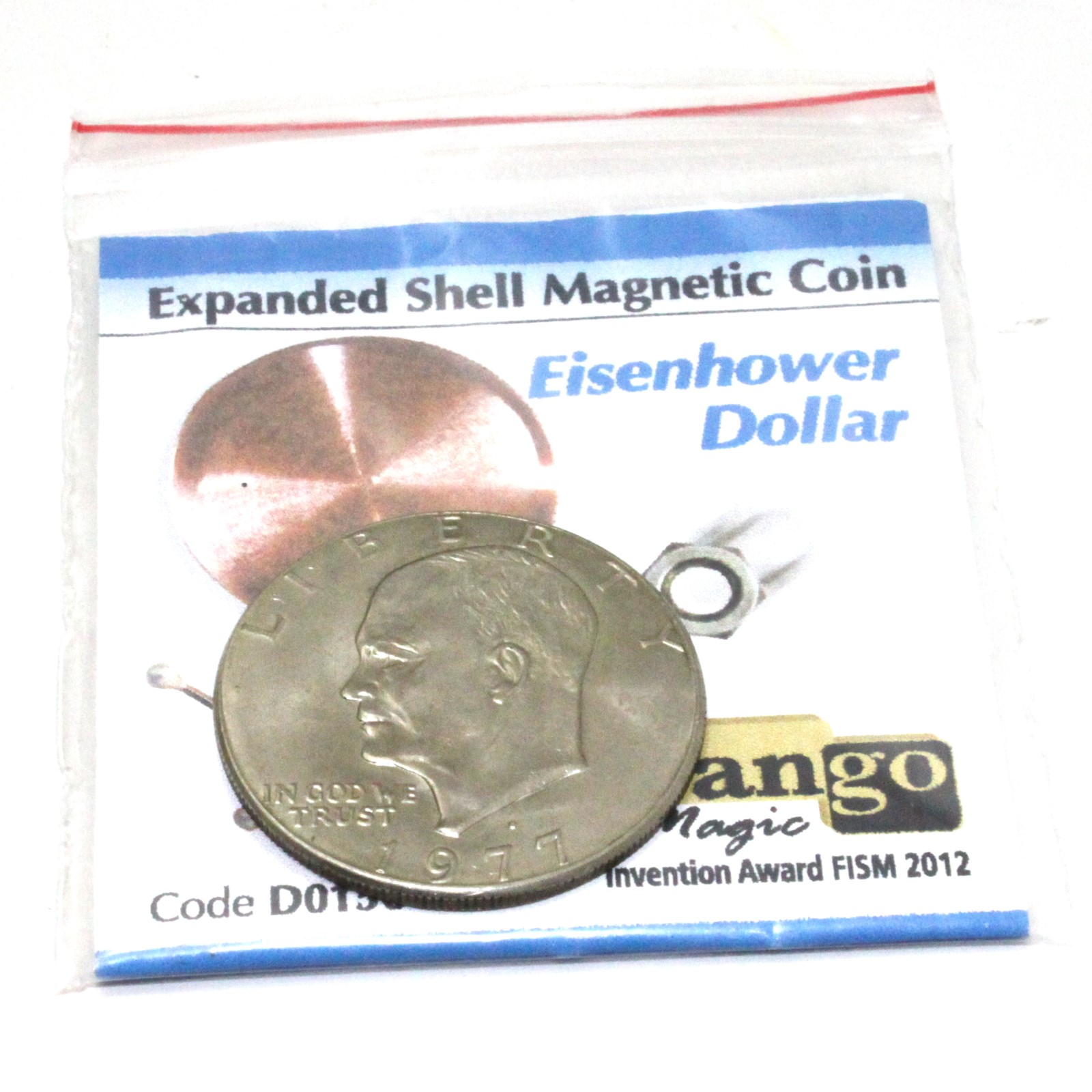 Expanded Magnetic Shell (Eisenhower Dollar) by Tango Magic