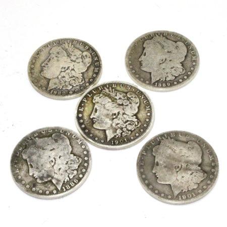 Expanded Silver Morgan Dollar Shell Set by Auke Van Dokkum