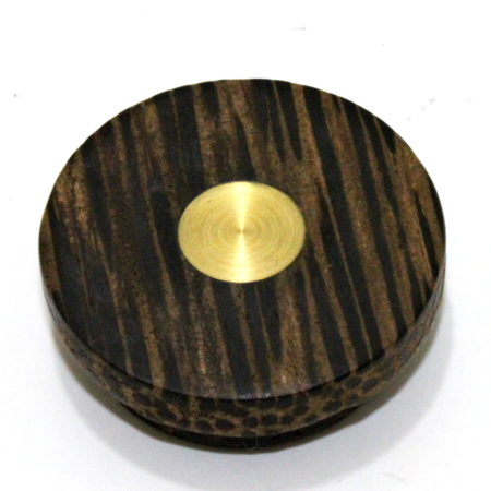 Exotic Black Palm and Brass Okito Box by Shamrock Magic