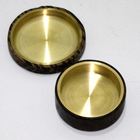 Exotic Black Palm and Brass Okito Box by Shamrock Magic