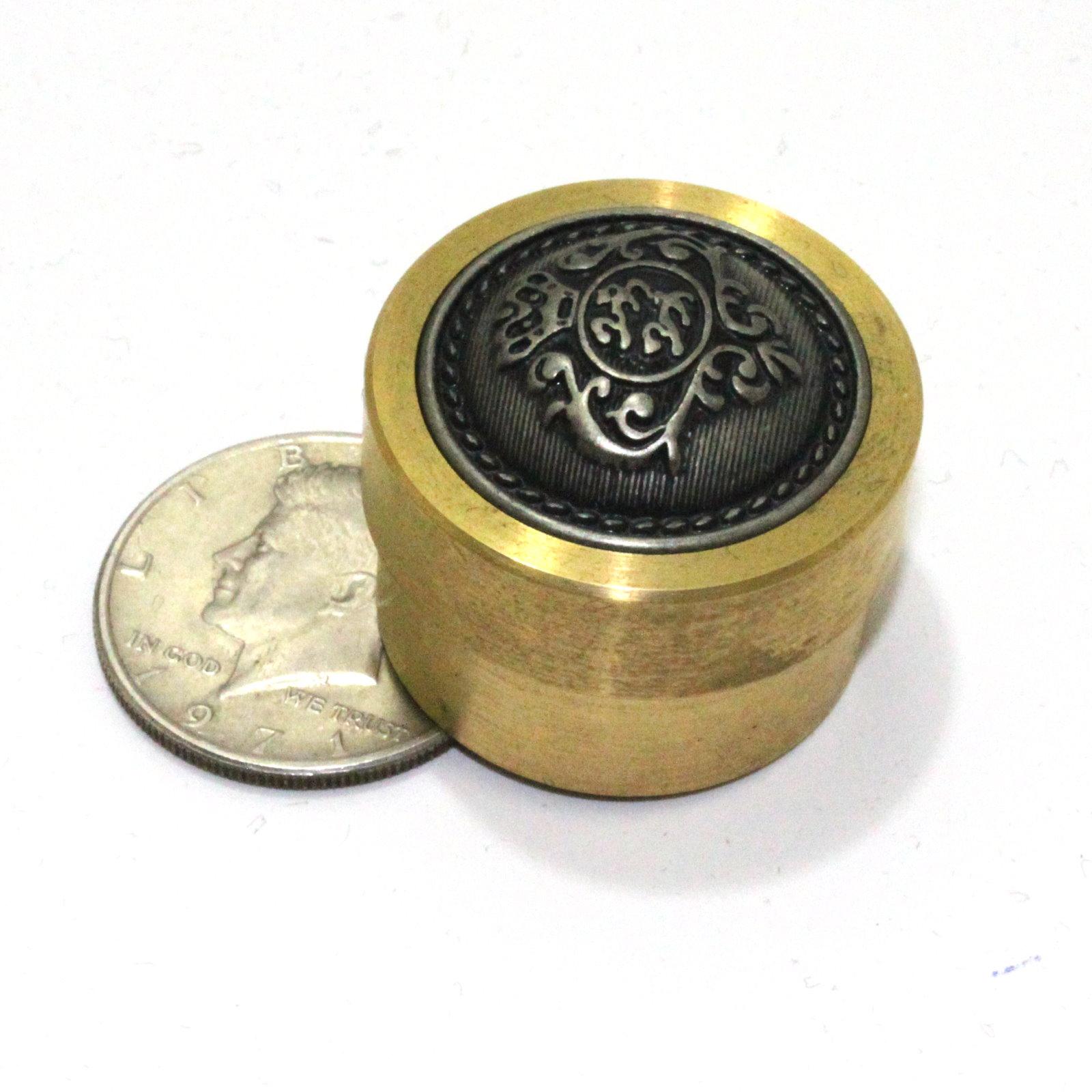 Brass Half Dollar Penetration Box by Unknown