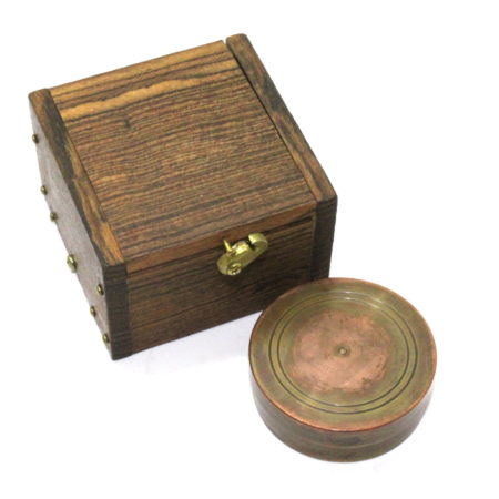 Copper Dollar Okito and Shedua Wood Lippincott Box