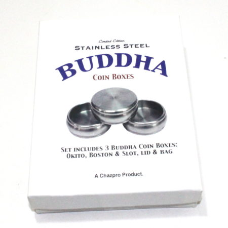 Stainless Steel Buddha Coin Boxes by Chazpro