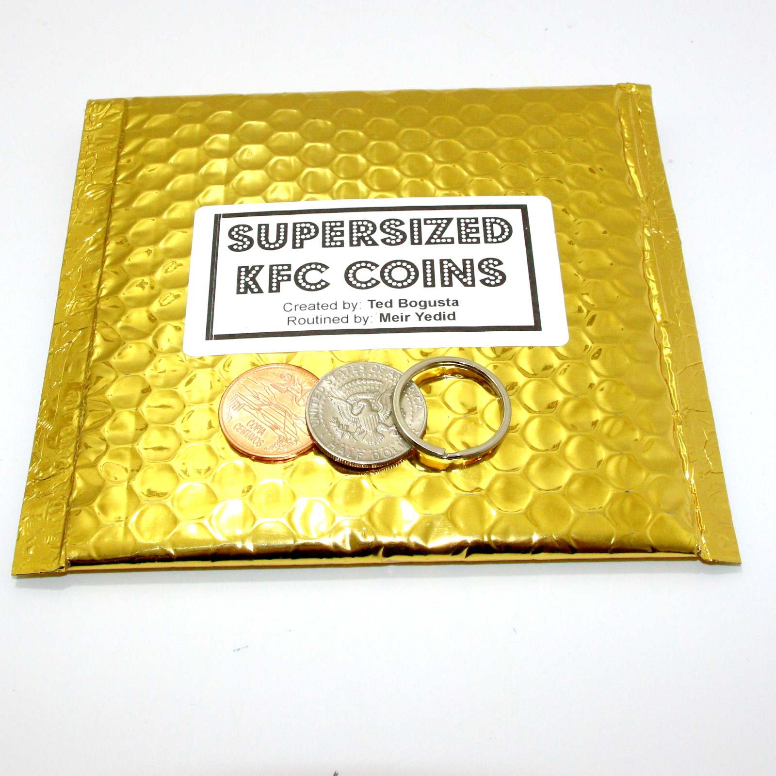 Supersized KFC Coins by Ted Bogusta, Meir Yedid