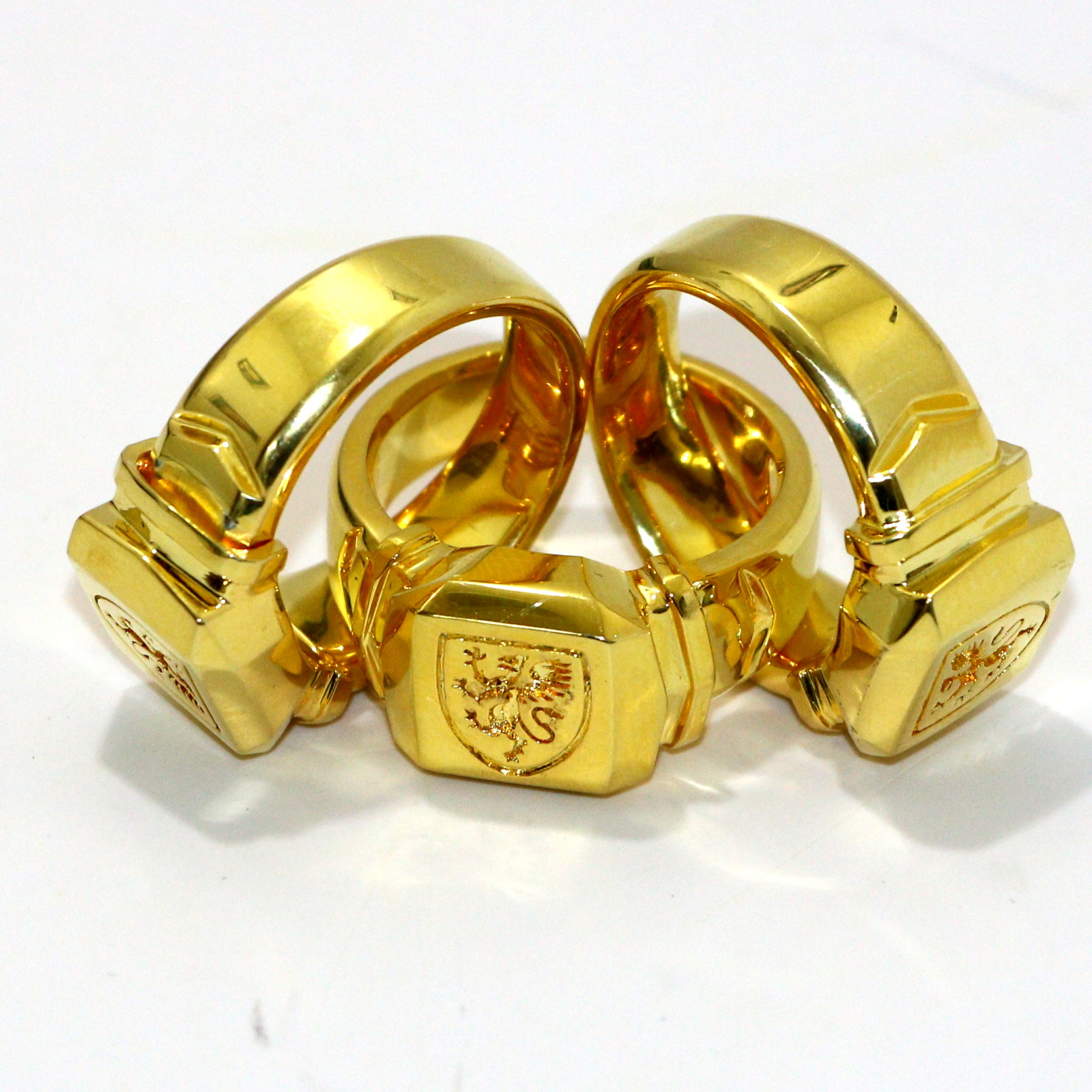 18k Gold Plated Linking Finger Rings by David Regal