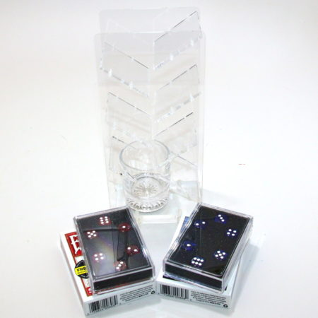 Red, Blue Perfect Prediction Dice and Clear Prediction Ladder by Kreis Magic