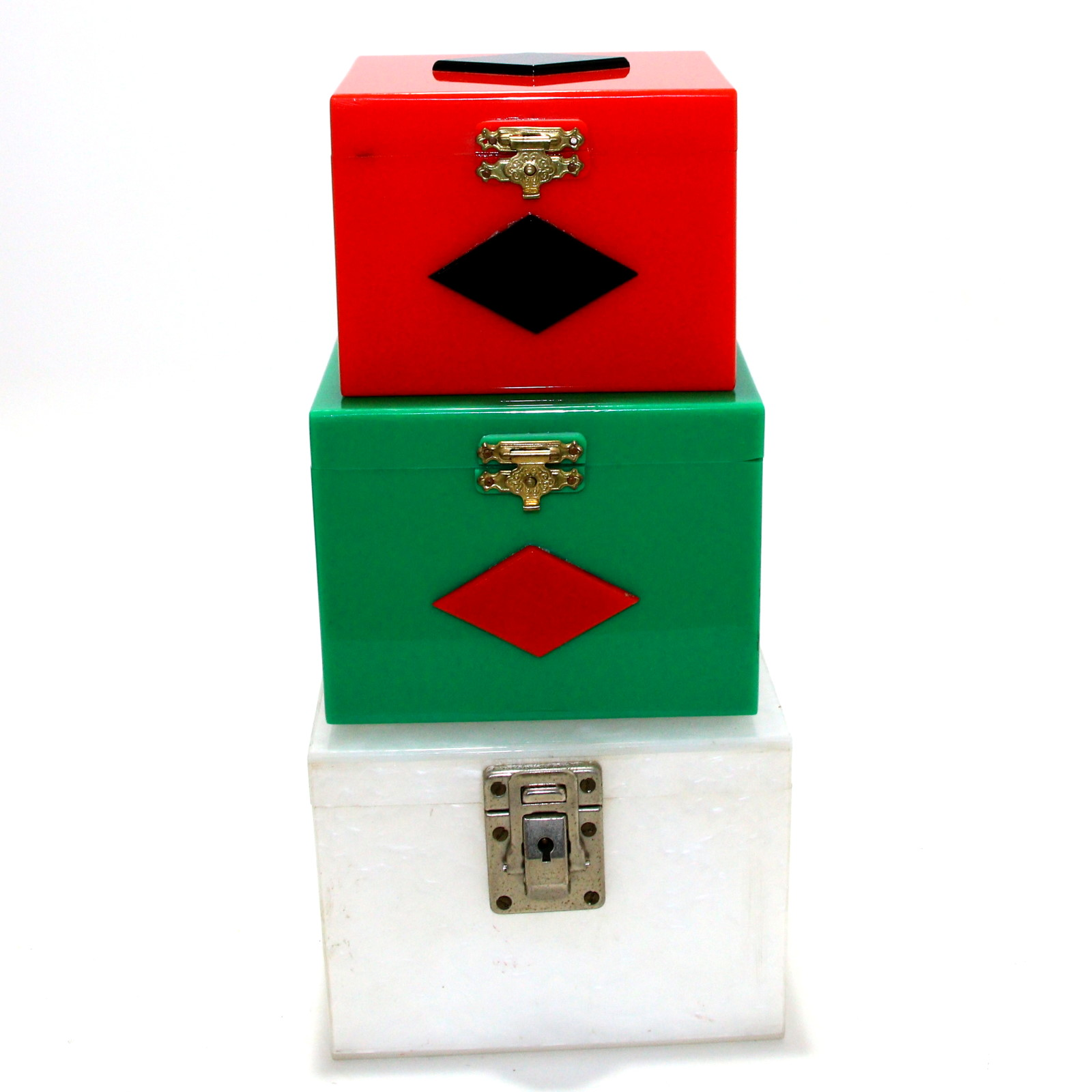 Vintage Acrylic Nest of Boxes by Silray Magic Co.