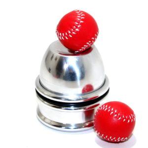Mini Harmonica Chop Cup (Aluminum) + Chop Balls by Leo Smetsers