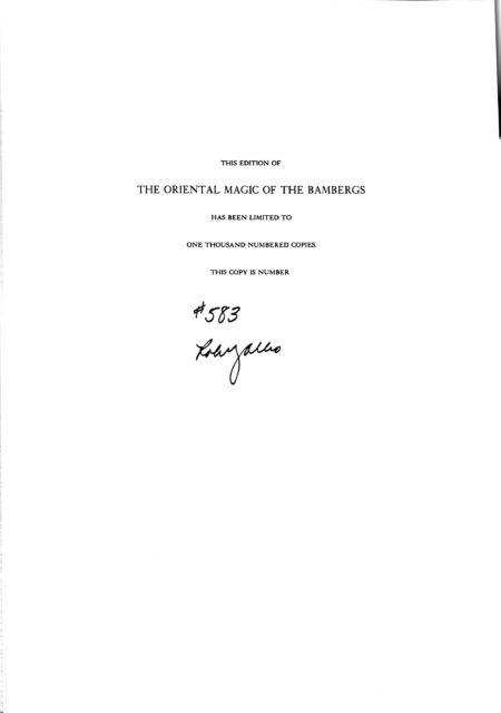 Albo 01 - The Oriental Magic of The Bambergs by Robert J. Albo,  Eric C. Lewis, David Bamberg