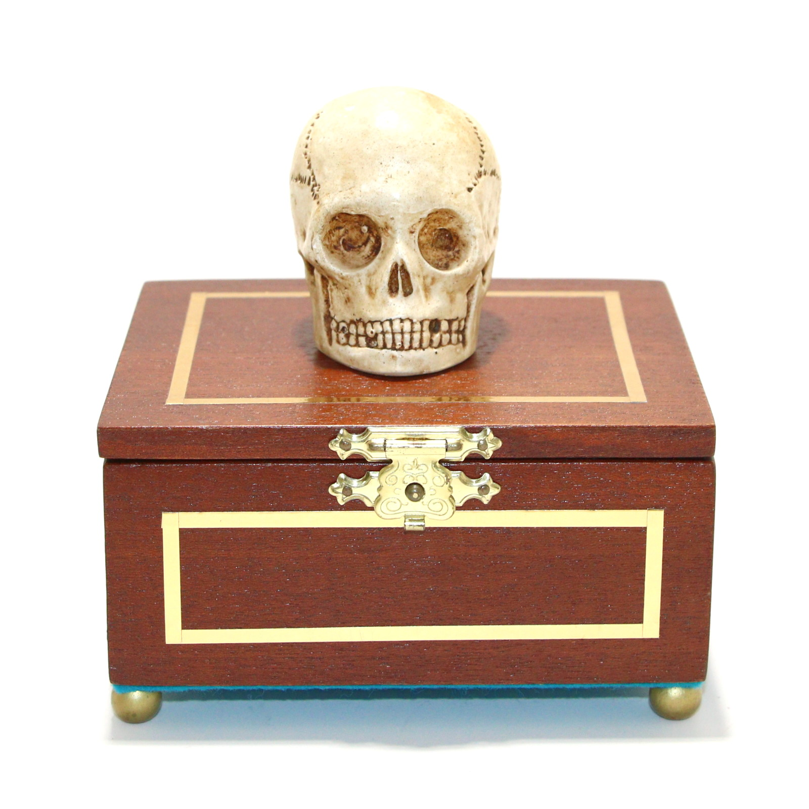 Talking Miniature Skull Casket by Unknown