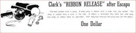 Solid Brass Ribbon Release by Bob Solari Magic