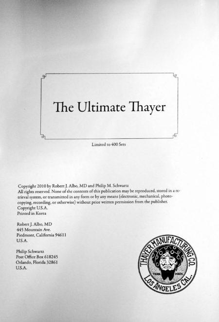 The Ultimate Thayer Vol. 2 by by Robert J. Albo, Philip M. Schwartz