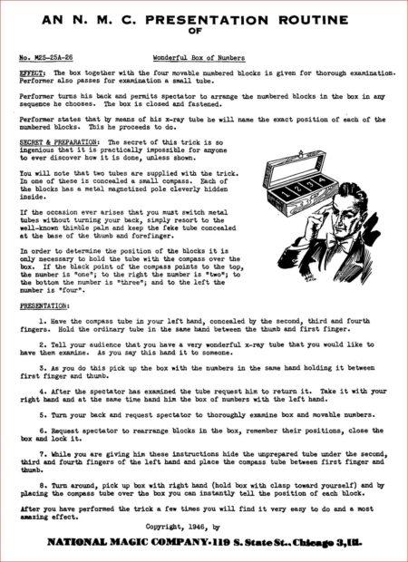 N.M.C. Instruction Sheets (Vols: 1-3) by Jim Sherman, National Magic Company