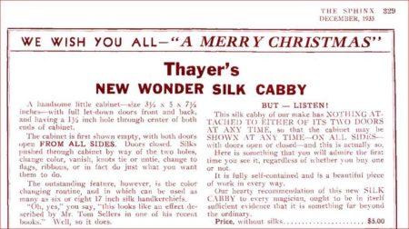 thayers-silk-cabby-ad-sphinx-1933-12