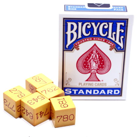 Miracle Number Dice (Di-Cyphering Dice) by Royal V. Heath, National Magic Company