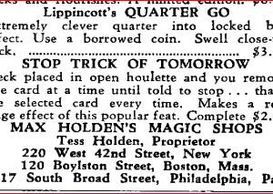 max-holden-quarter-go-ad-hugards-magic-monthly-1949-12